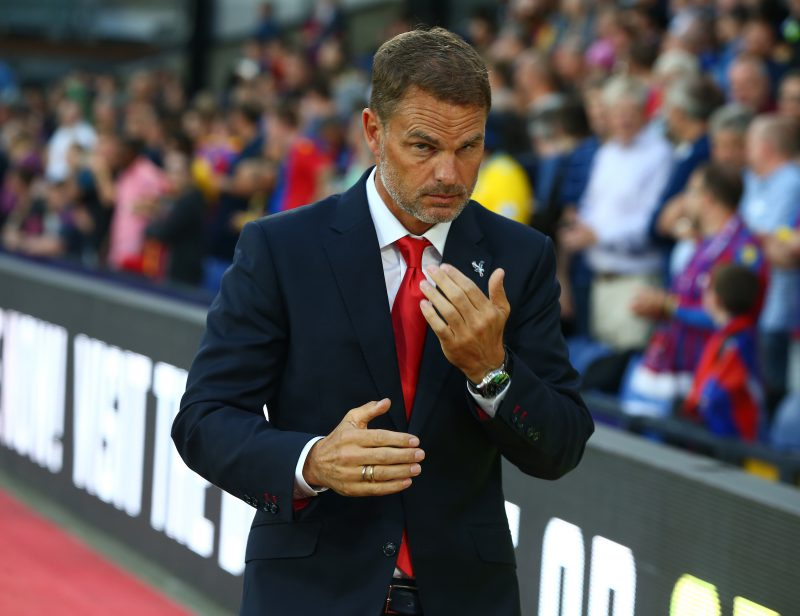 Will Crystal Palace manager Frank de Boer survive the weekend?